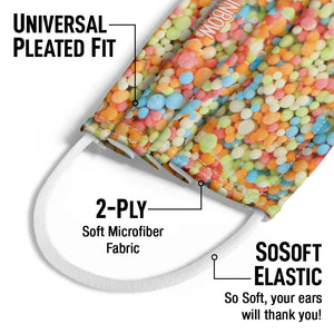 Dippin' Dots Rainbow Ice Kids Universal Pleated Fit, 2-Ply, SoSoft Elastic Earloops