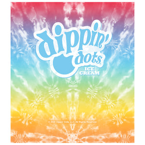 Dippin' Dots Rainbow Ice Tie Dye Kids Mask Design Full View