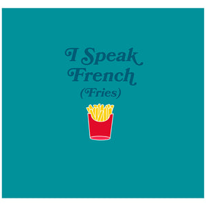 Delish I Speak French Fries Adult Mask Design Full View