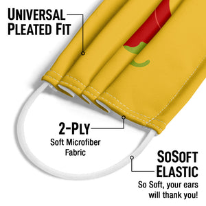 Load image into Gallery viewer, Delish Chili Pepper Adult Universal Pleated Fit, 2-Ply, SoSoft Elastic Earloops