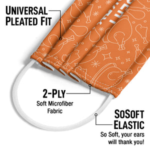 Load image into Gallery viewer, Delish Insert Turkey Here Adult Universal Pleated Fit, 2-Ply, SoSoft Elastic Earloops