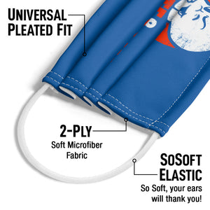 Casper the Friendly Ghost Spooky Adult Universal Pleated Fit, 2-Ply, SoSoft Elastic Earloops