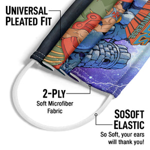 Masters of the Universe Protecting Grayskull Adult Universal Pleated Fit, 2-Ply, SoSoft Elastic Earloops