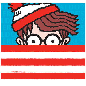 Where's Waldo Stripes Adult Mask Design Full View