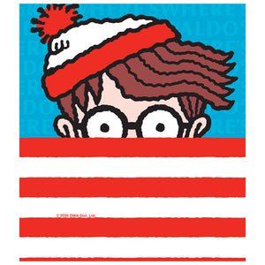 Where's Waldo Stripes Kids Mask Design Full View