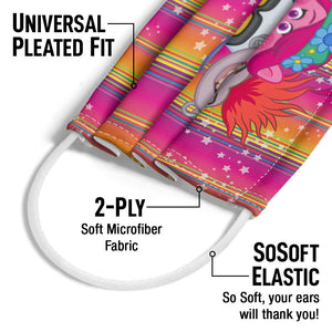 Troll Heads Adult Universal Pleated Fit, 2-Ply, SoSoft Elastic Earloops