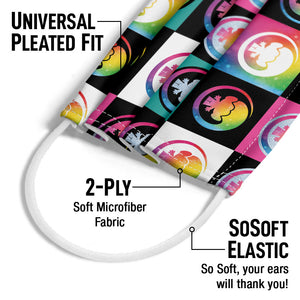 Trolls Branded Adult Universal Pleated Fit, 2-Ply, SoSoft Elastic Earloops