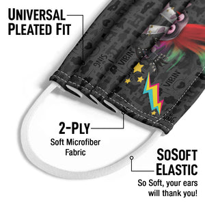 Load image into Gallery viewer, Trolls Barb Rock on Kids Universal Pleated Fit, 2-Ply, SoSoft Elastic Earloops
