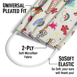 Trolls Love for All Adult Universal Pleated Fit, 2-Ply, SoSoft Elastic Earloops