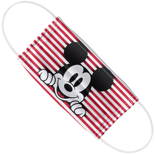 Mickey Mouse Nautical Stripes Adult Flat View