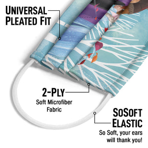 Frozen Characters Adult Universal Pleated Fit, 2-Ply, SoSoft Elastic Earloops