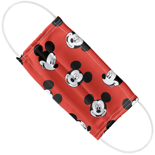 Mickey Mouse Heads Pattern Adult Flat View