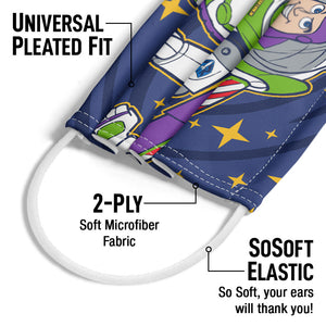 Toy Story Star Spiral Adult Universal Pleated Fit, 2-Ply, SoSoft Elastic Earloops