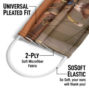 Load image into Gallery viewer, Our Hero Woody Adult Universal Pleated Fit, 2-Ply, SoSoft Elastic Earloops