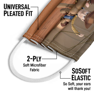 Load image into Gallery viewer, Our Hero Woody Kids Universal Pleated Fit, 2-Ply, SoSoft Elastic Earloops