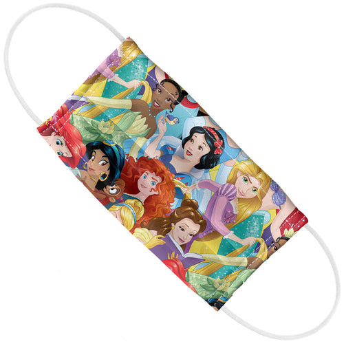 Disney Princess Colorful Collage Adult Flat View