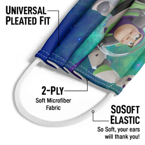 Our Hero Buzz Lightyear Kids Universal Pleated Fit, 2-Ply, SoSoft Elastic Earloops
