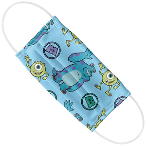 Monsters Inc. Mike and Sully Pattern Adult Flat View