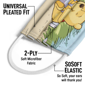 Load image into Gallery viewer, Winnie the Pooh Jump Kids Universal Pleated Fit, 2-Ply, SoSoft Elastic Earloops