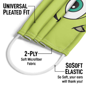 Load image into Gallery viewer, Monsters Inc. Mike Face Adult Universal Pleated Fit, 2-Ply, SoSoft Elastic Earloops