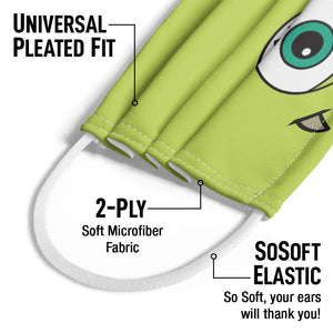 Monsters Inc. Mike Face Kids Universal Pleated Fit, 2-Ply, SoSoft Elastic Earloops