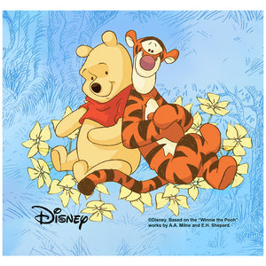 Winnie the Pooh and Tigger In the Woods Adult Mask Design Full View