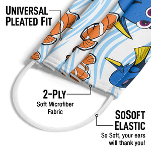 Finding Nemo Dory and Nemo Adult Universal Pleated Fit, 2-Ply, SoSoft Elastic Earloops