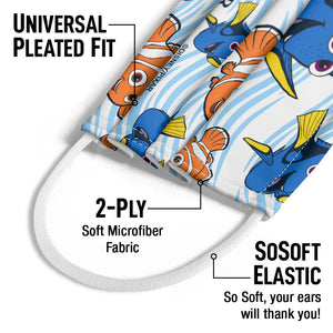 Finding Nemo Dory and Nemo Kids Universal Pleated Fit, 2-Ply, SoSoft Elastic Earloops
