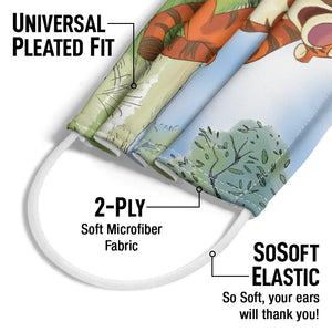 Winnie the Pooh Tigger Adult Universal Pleated Fit, 2-Ply, SoSoft Elastic Earloops