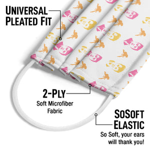 Load image into Gallery viewer, Elvis Presley Face Pattern Adult Universal Pleated Fit, 2-Ply, SoSoft Elastic Earloops
