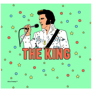 Elvis Presley The King Illustrated Adult Mask Design Full View
