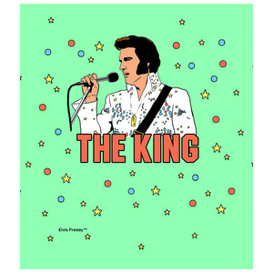 Load image into Gallery viewer, Elvis Presley The King Illustrated Kids Mask Design Full View