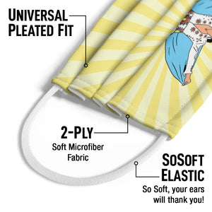 Load image into Gallery viewer, Elvis Presley Classic Pose Kids Universal Pleated Fit, 2-Ply, SoSoft Elastic Earloops