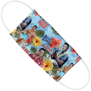 Elvis Presley Blue Hawaii Pattern Adult Flat View