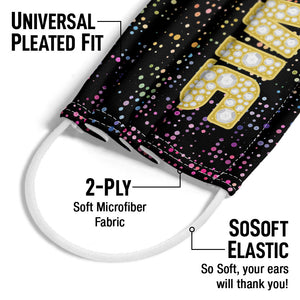 Load image into Gallery viewer, Elvis Presley Bling King Adult Universal Pleated Fit, 2-Ply, SoSoft Elastic Earloops
