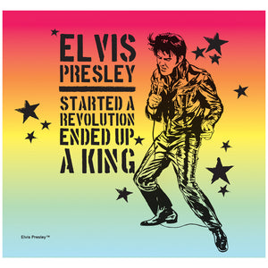 Load image into Gallery viewer, Elvis Presley Revolution King Adult Mask Design Full View