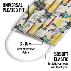 Elvis Presley '68 Special Pattern Adult Universal Pleated Fit, 2-Ply, SoSoft Elastic Earloops