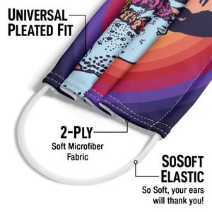 Load image into Gallery viewer, Elvis Presley Spiral of Color Adult Universal Pleated Fit, 2-Ply, SoSoft Elastic Earloops