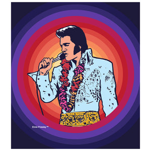 Load image into Gallery viewer, Elvis Presley Spiral of Color Kids Mask Design Full View