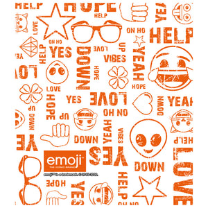Load image into Gallery viewer, emoji TM - The Iconic Brand Fun Sayings Kids Mask Design Full View