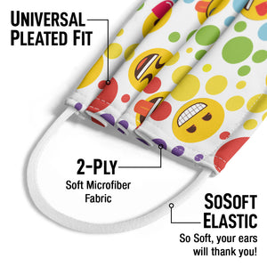 emoji TM - The Iconic Brand Dot Pattern Kids Universal Pleated Fit, 2-Ply, SoSoft Elastic Earloops
