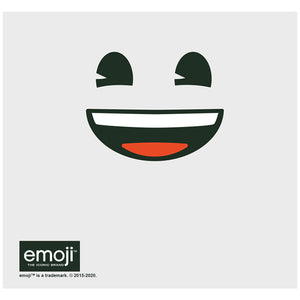 emoji TM - The Iconic Brand Happy Adult Mask Design Full View
