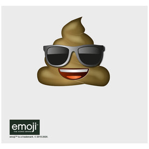 emoji TM - The Iconic Brand Cool Poo Adult Mask Design Full View