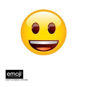emoji TM - The Iconic Brand Smiley Face Adult Mask Design Full View