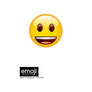 emoji TM - The Iconic Brand Smiley Face Kids Mask Design Full View