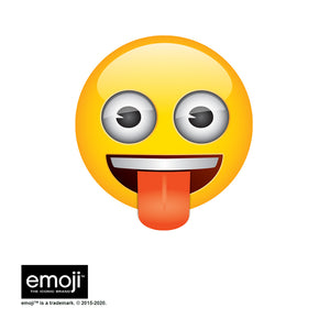 emoji TM - The Iconic Brand Tongue Out Adult Mask Design Full View