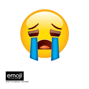 emoji TM - The Iconic Brand Sad Face Adult Mask Design Full View