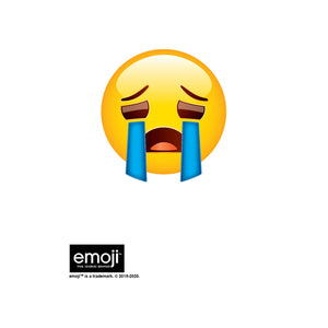 emoji TM - The Iconic Brand Sad Face Kids Mask Design Full View