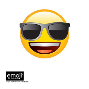 emoji TM - The Iconic Brand Cool Face Adult Mask Design Full View