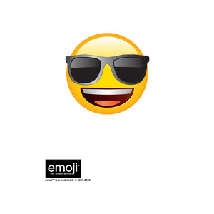 emoji TM - The Iconic Brand Cool Face Kids Mask Design Full View